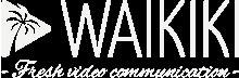 logo baseline waikiki blanc